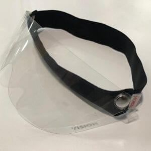 Non-branded headband with branded glasses
