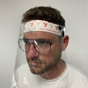 Branded headband with branded visor